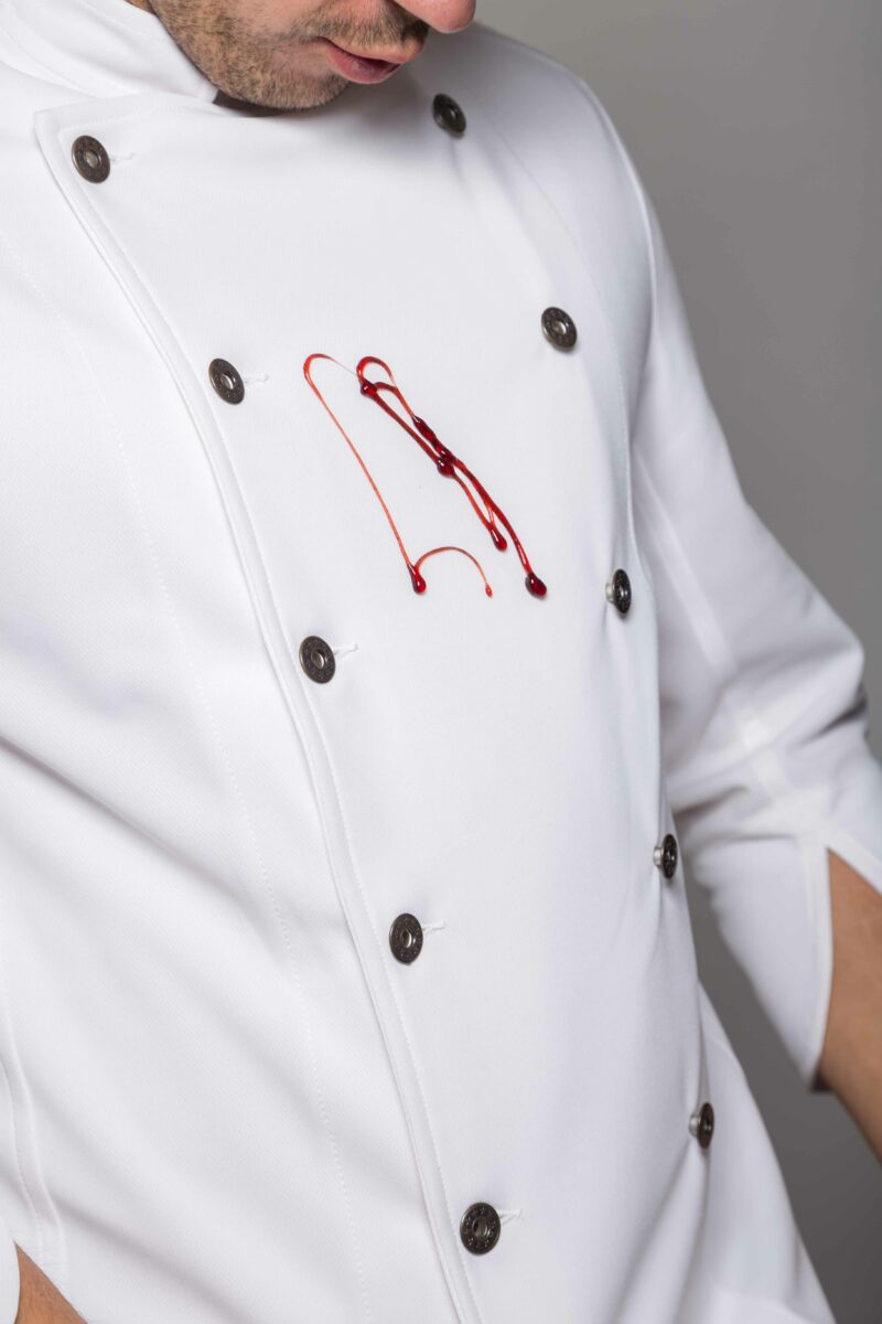 Chaquetilla de cocina PURE WHITE ANTIMANCHAS Clothink